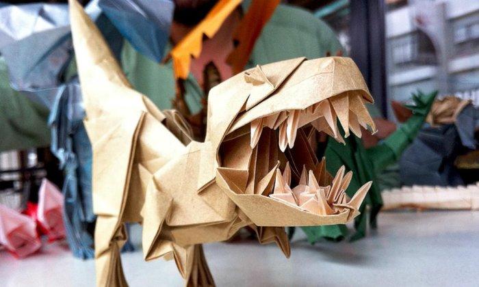 Роберт Лэнг, оригами «Динозавр»