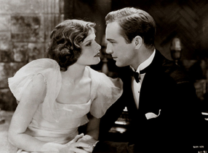 Первая роль в кино: Кэтрин Хепбёрн и Джон Бэрримор в фильме «Билль о разводе», 1932 год