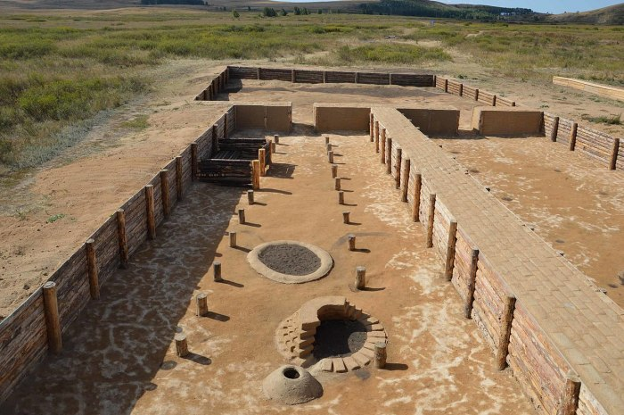Укрепленное поселение Аркаим. Музеефицированный раскоп на двух жилищах