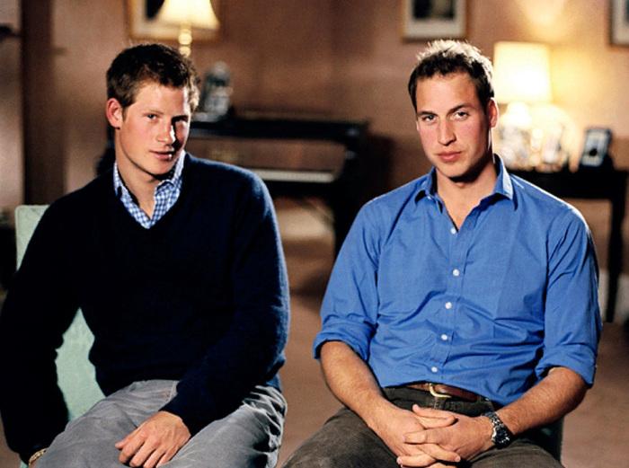 Принцы Уильям и Гарри дают интервью в декабре 2006 года