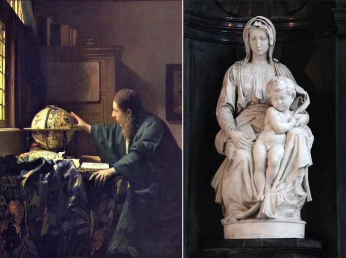 «Астроном» Яна Вермеера и «Мадонна Брюгге» работы Микеланджело Буонарроти – шедевры, хранившиеся с 1943 по 1945 год в соляных шахтах Альтаусзее.