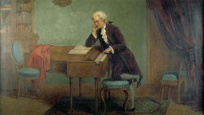 Йозеф Бач «Моцарт сочиняет»