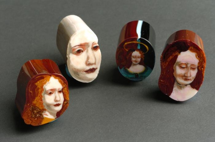 Портреты в стекле до их нарезки
