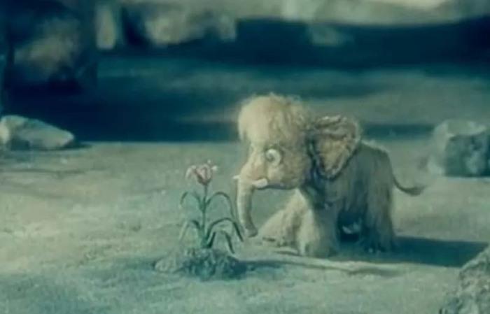 Кадр из м/ф «Про мамонтенка», 1983 год