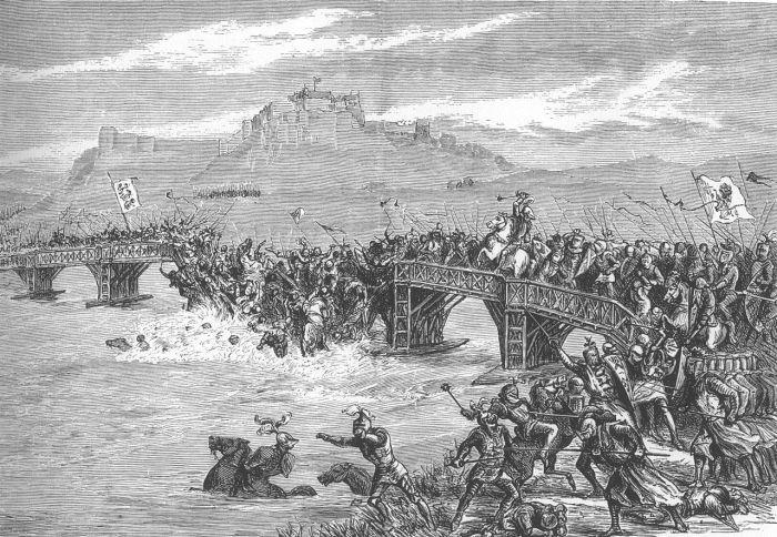 Одна из важнейших вех в истории Шотландии – Битва на Стерлингском мосту. Рисунок XIX века