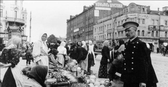 Уличные торговки, фото начала XX века