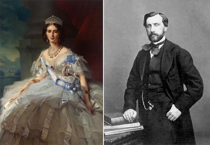 Княгиня Татьяна Юсупова на портрете кисти Винтерхальтера и фото Николая Юсупова