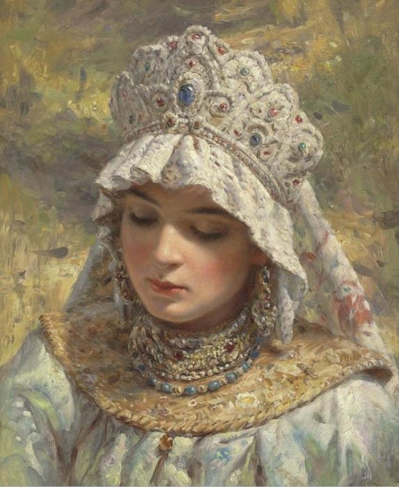 Константин Маковский,  Русская красавица в кокошнике