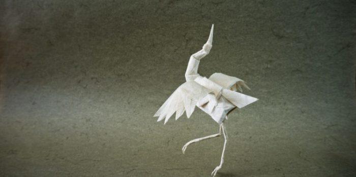 Роберт Лэнг, оригами «Танцующий журавль»
