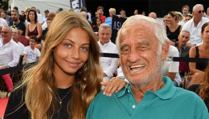 Жан-Поль Бельмондо с дочерью Стеллой в 2020 году