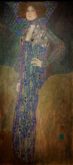 Эмилия Флёге, портрет работы Климта