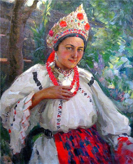 Н. Харитонов, Девушка, 1920