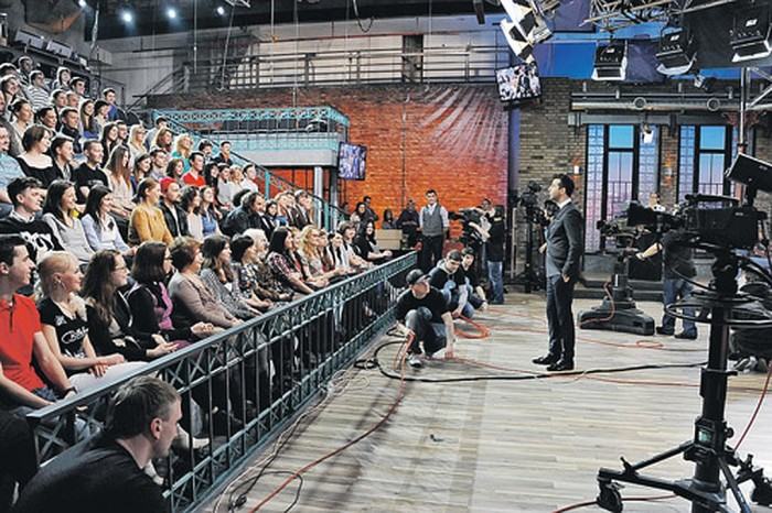 На съемках ток-шоу «Вечерний Ургант» тоже присутствуют зрители