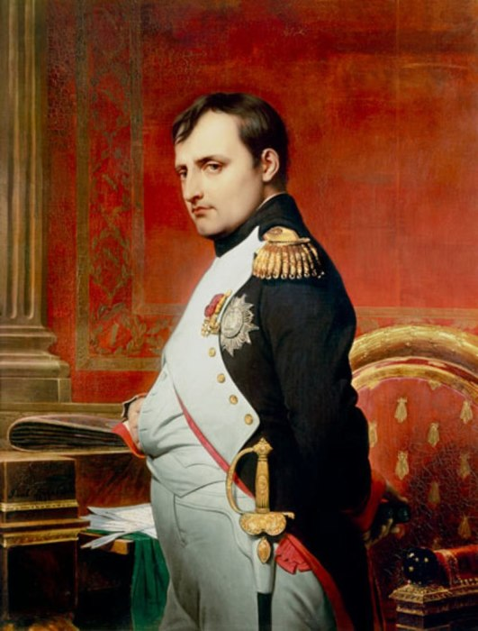 Наполеон I Бонапарт, портрет кисти Поля Делароша