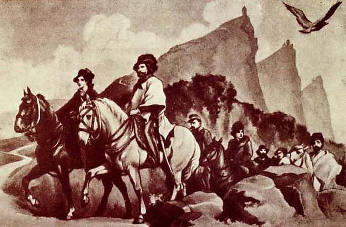 Отступление Джузеппе и Аниты Гарибальди из Рима