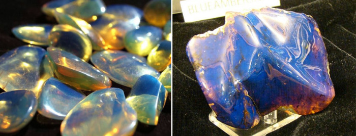 Уникальный голубой янтарь добывается в Доминикане