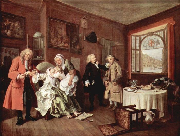 Уильям Хогарт «Смерть графини» («The Suicide of the Countess»)