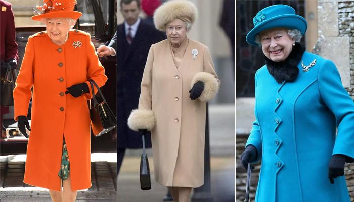 Пальто классического покроя и акцент на уникально красивую брошь – обычный стильный прием Елизаветы II