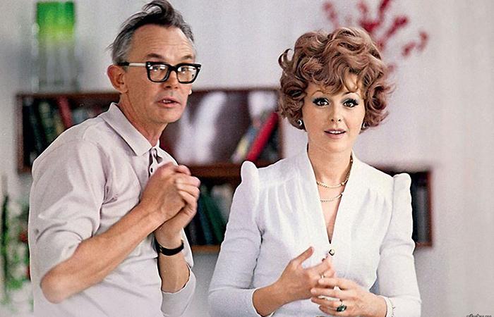 Леонид Гайдай и Наталья Селезнева на съемках фильма «Иван Васильевич меняет профессию», 1973 год