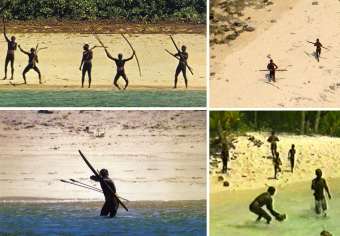 Жители острова Северный Сентинел в Бенгальском заливе – одни из самых негостеприимных людей на планете