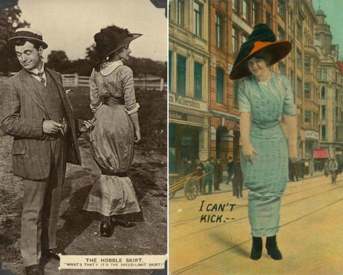 «Хромая юбка» - самое неудобное изобретение 1910-х