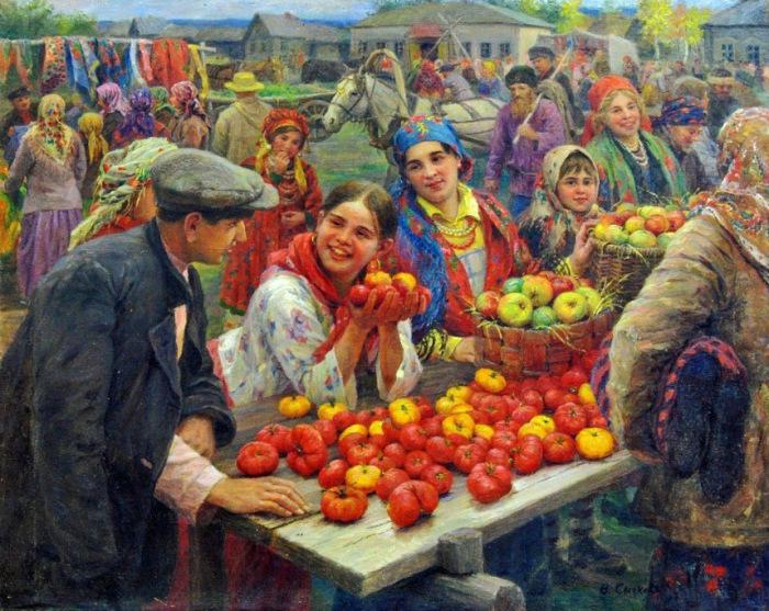 Ф.В. Сычков, Колхозный базар