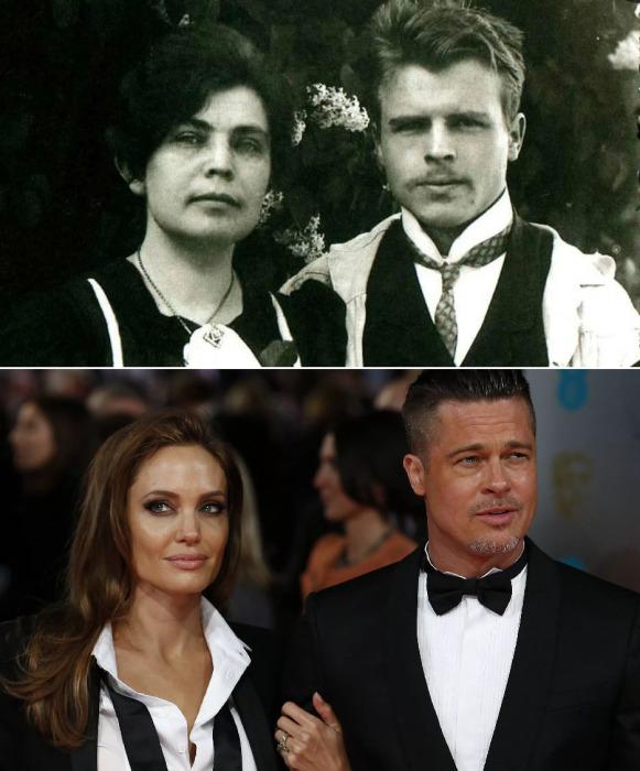 Супружеские пары: Герман Роршах и Бред Питт с женами