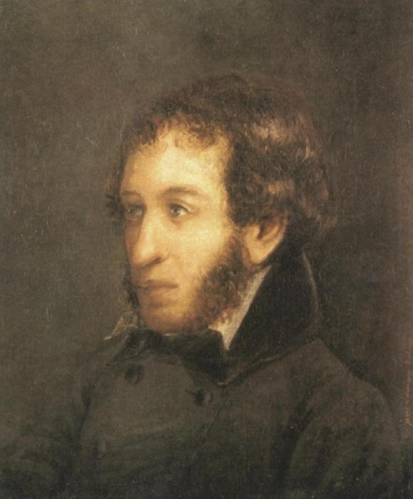 Портрет А.С. Пушкина  (предположительно, кисти И.Л.Линева)