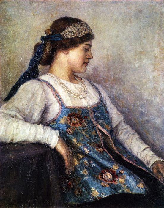Девушка в венце  (В.И.Суриков, портрет Натальи Федоровны Матвеевой)