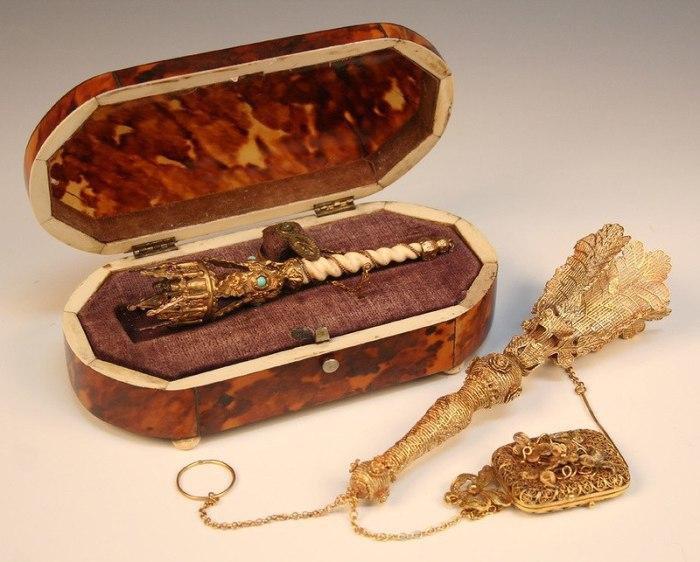 Изысканные портбукеты из золота, серебра и драгоценных камней изготавливались лучшими ювелирами