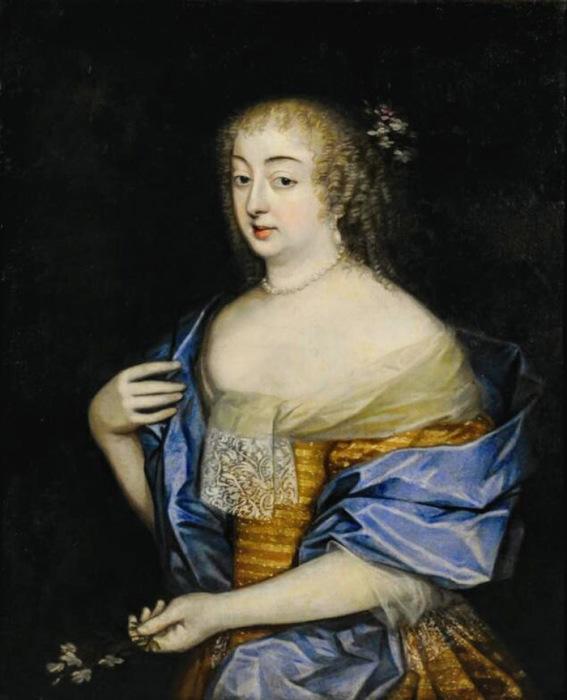 Неизвестный художник французской школы братьев Бобрун, портрет герцогини де Шеврёз