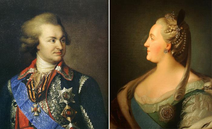 Светлейший князь Григорий Потёмкин-Таврический и Екатерина II
