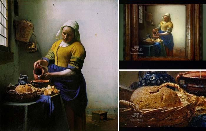 Некоторые детали картин Вермеера находятся «не в фокусе», что доказывает использование им при работе оптических устройств с линзой