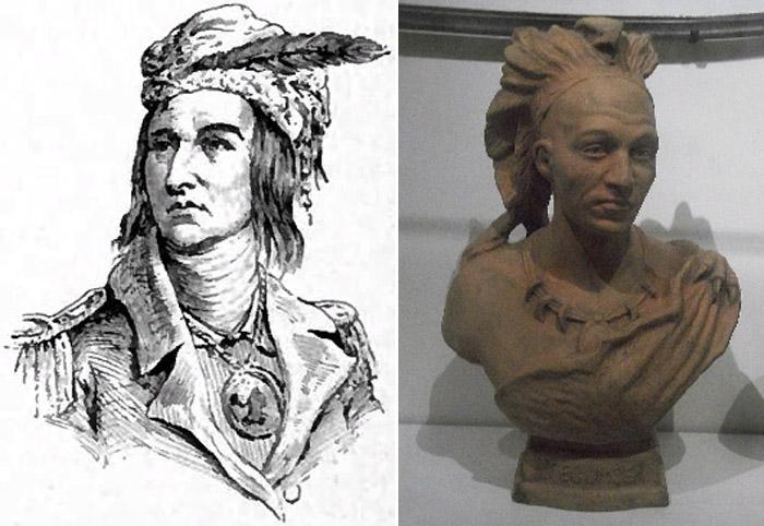 Предположительное изображение и Бюст Текумсе в Королевском музее Онтарио