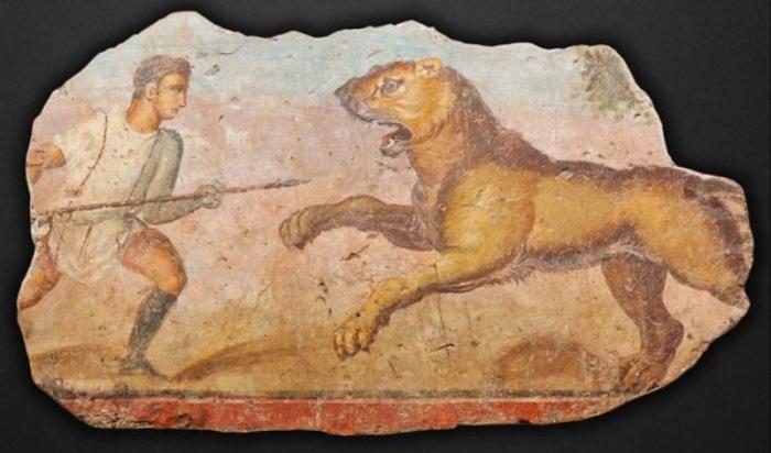 Фрагмент древнеримской фрески