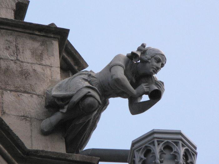 Гаргуйль ратуши в Эрфурте, Тюрингия