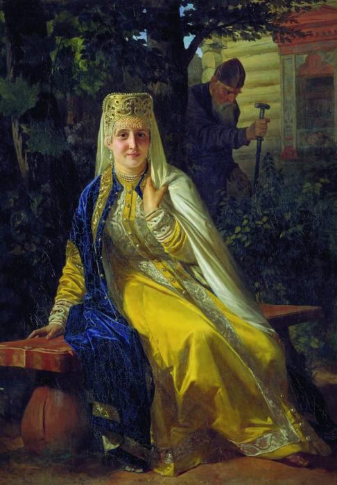 Н. Неврев, Василиса Мелентьевна и Иван Грозный, 1880