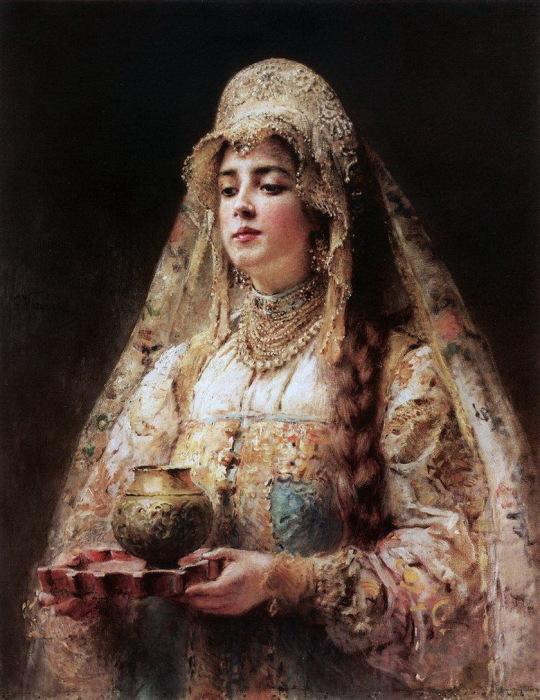 Константин Маковский, Чарка меду. 1890-е