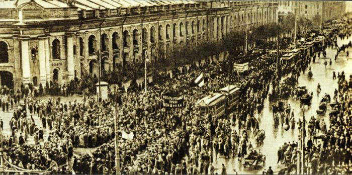 Невский проспект в дни Февральской революции