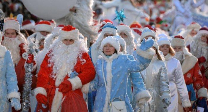 Парад Дедов Морозов в Рязани