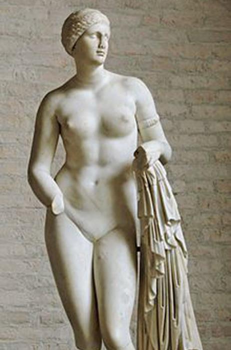 «Афродита Браски», тип Афродиты Книдской, I в. до н. э. (Глиптотека, Мюнхен)