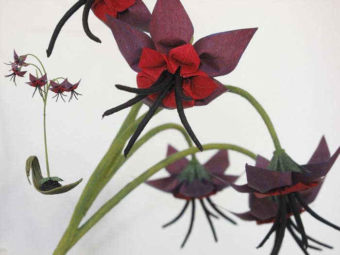 Удивительные цветы и маленькие деревья – направление работ мастера оригами Бенджамина Колмана