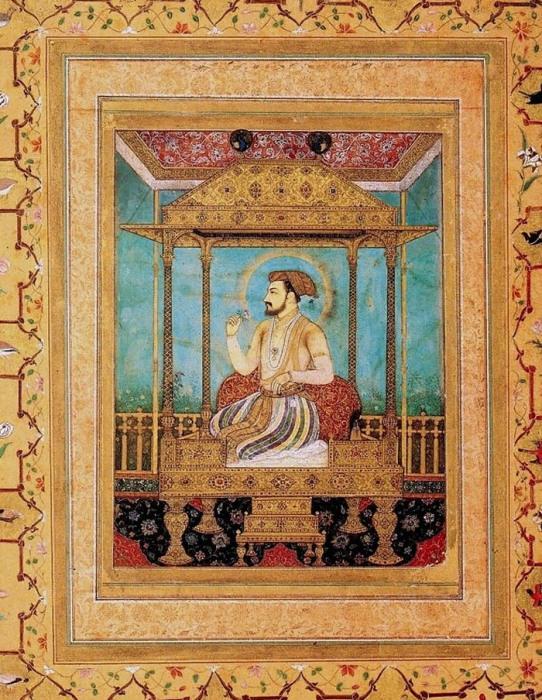Говардхан. Шах Джахан на Павлиньем троне. ок. 1635 г.