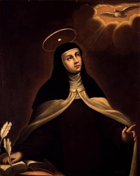 Святая Тереза на картине XVII века