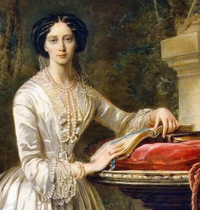 Портрет Марии Александровны кисти К. Робертсон.1849-51 гг., Эрмитаж.