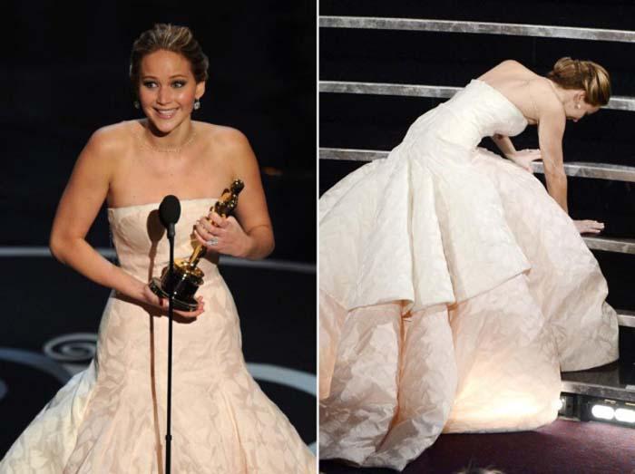 """Падение Дженнифер Лоуренс на церемонии """"Оскар"""