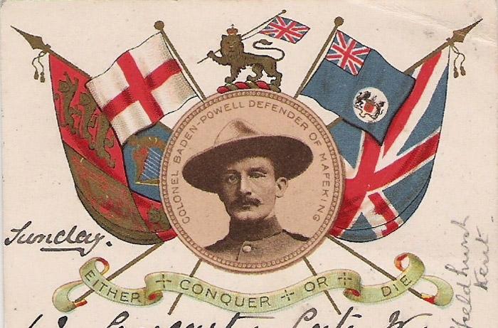 Баден-Пауэлл на патриотической открытке 1900 года