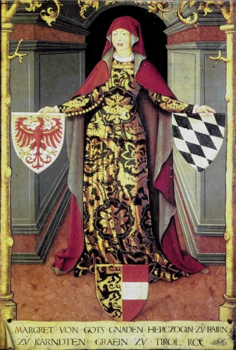 Маргарита, графиня Тироля и герцогиня Баварии. Портрет первой половины XVI века.