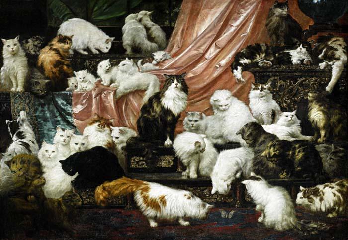 Карл Калер, «Любовники моей жены», 1893 год, холст, масло.  180 × 260 см.