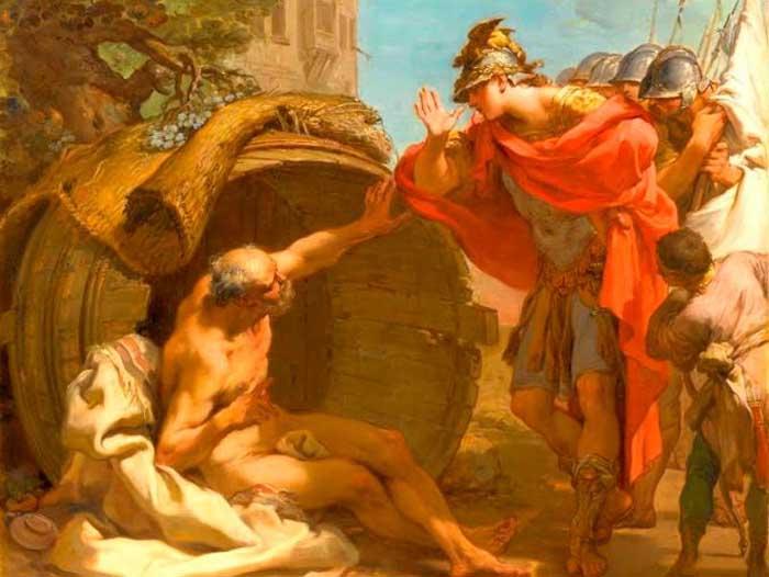 Диогена считают одним из примеров «безумного мудреца», нарушавшего законы общества из принципов